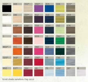 colour chart for rPet Guttermann thread